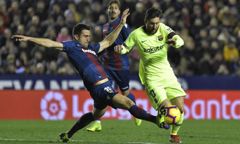 Trực tiếp Levante vs Barcelona, 03h30 ngày 11/01/2019